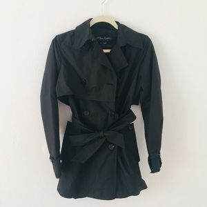 All Saints goodge st trench coat black size 8